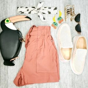 Pants - Brick pink high waisted shorts